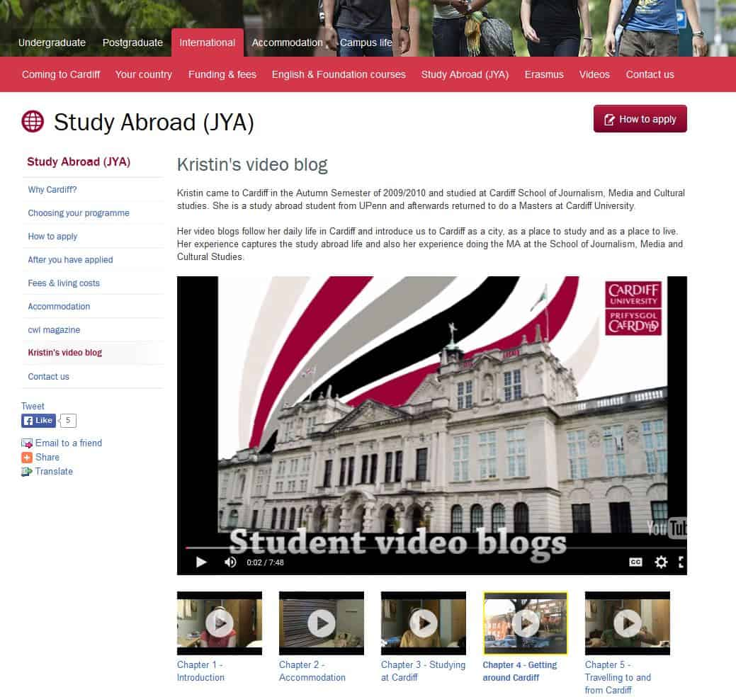 video blog university marketing