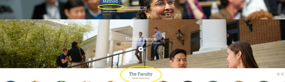 faculty website marketing