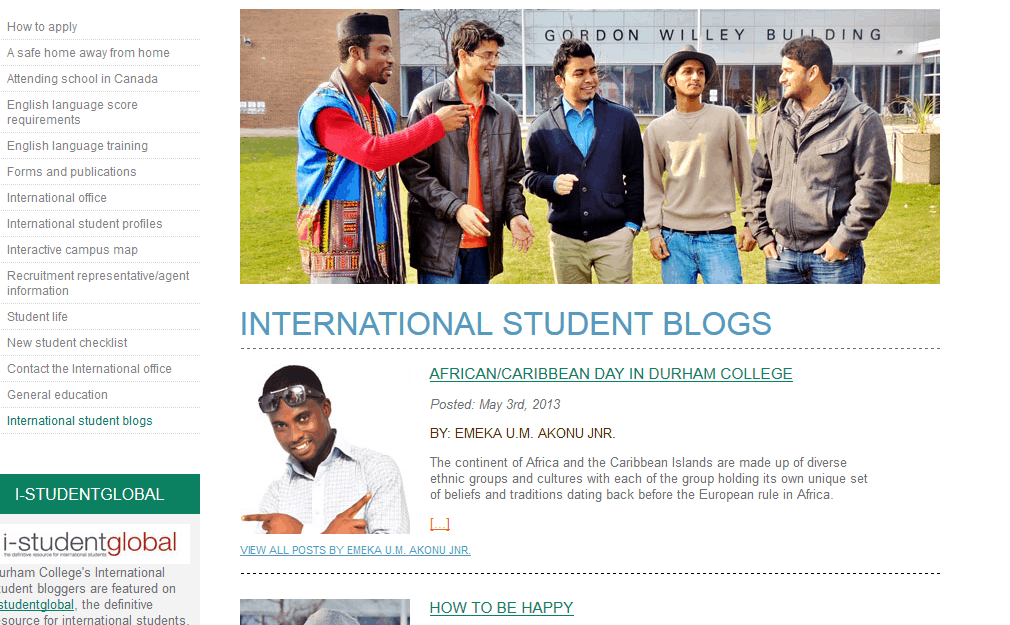 International Student Blogs