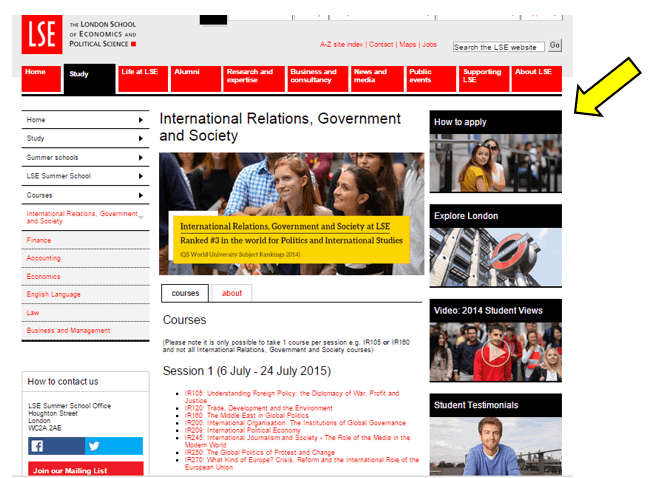 business school program page