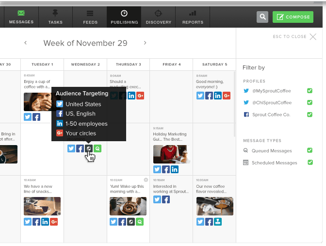 automated social media management for education marketers