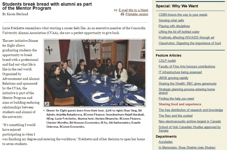 Alumni to student mentoring is a crucial tool for attracting