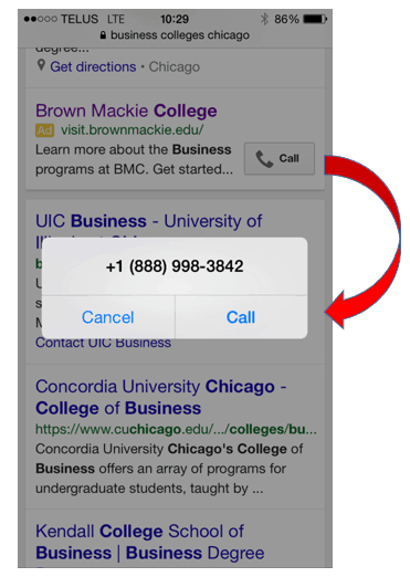 Mobile PPC for higher education
