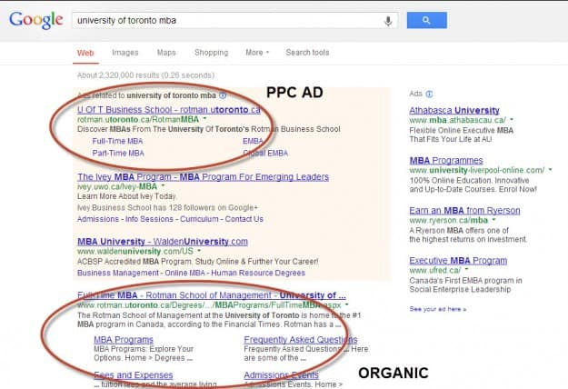 PPC and organic