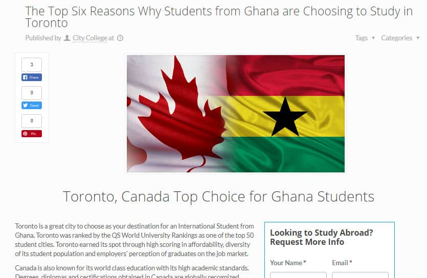 Recruit students from Africa