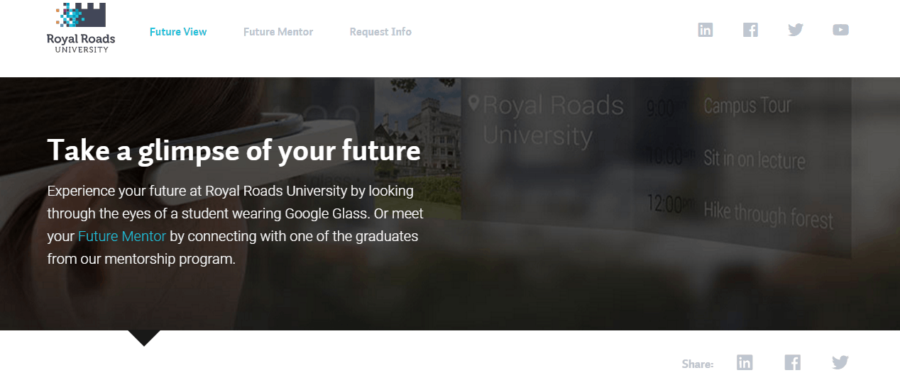 University recruitment marketing campaign