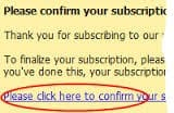 Single opt in email confirmation