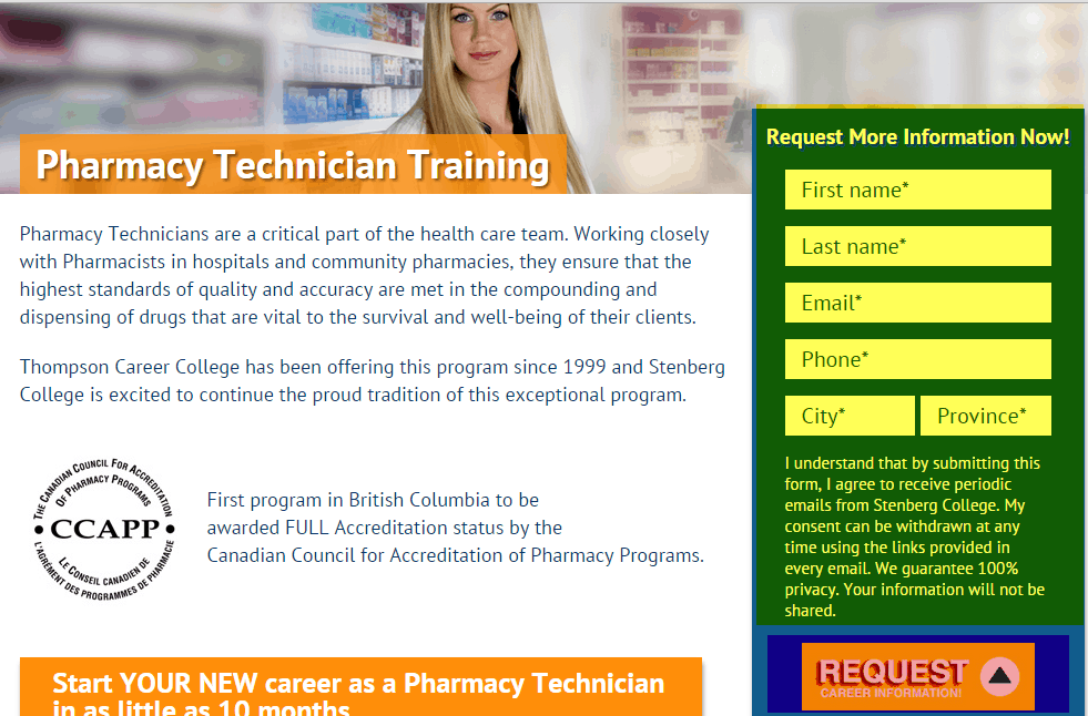 PPC for higher ed landing page CTA
