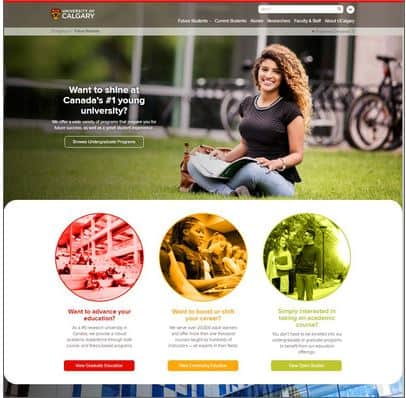 university calgary mobile website improvement