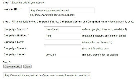 Using Vanity URL with Google Analytics URL Builder