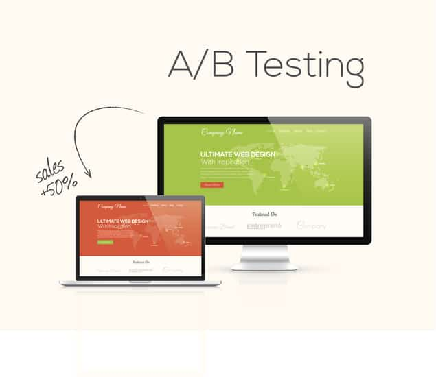 a/b testing example website redesign