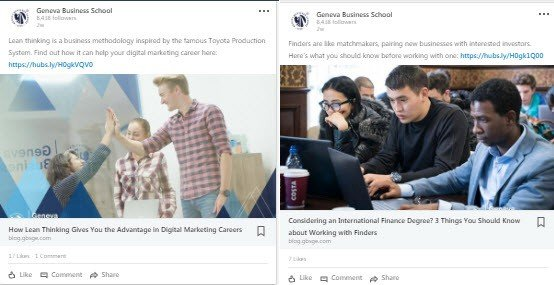 business school social media