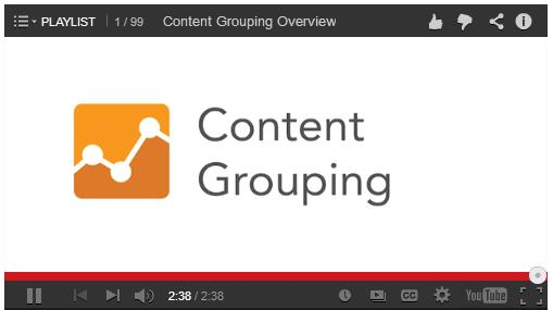 content grouping vid