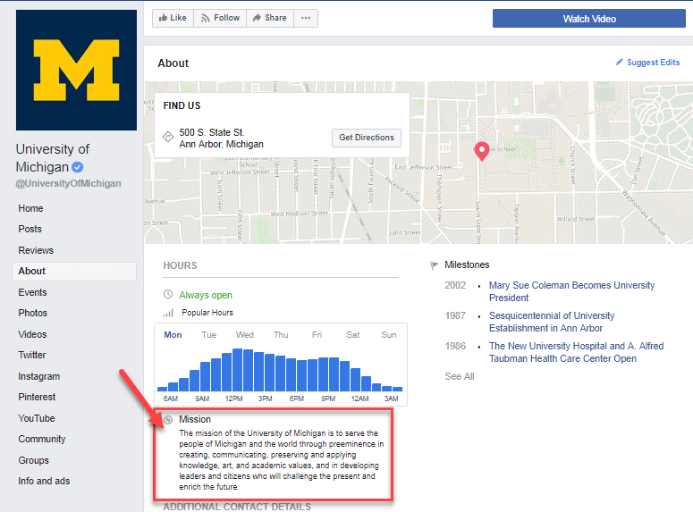 facebook for university