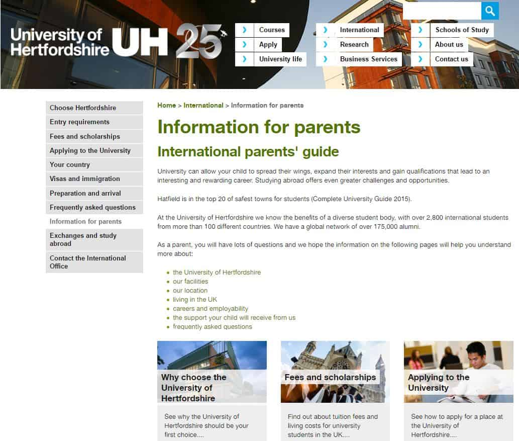 university parents international marketing
