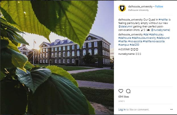 higher ed instagram marketing