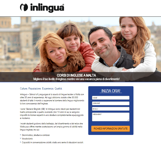 inlingua ppc for student recruitment