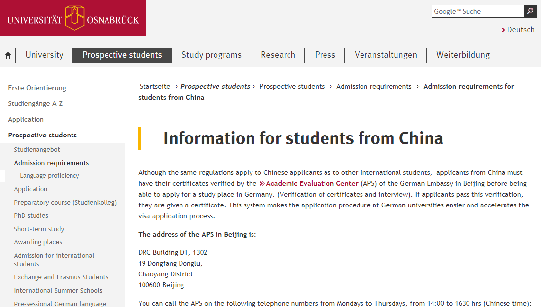 international students in China