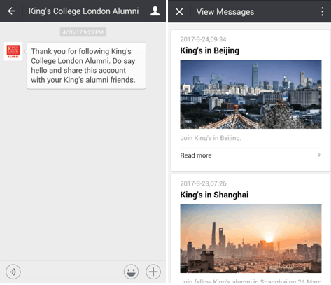 Kings College Alumni WeChat