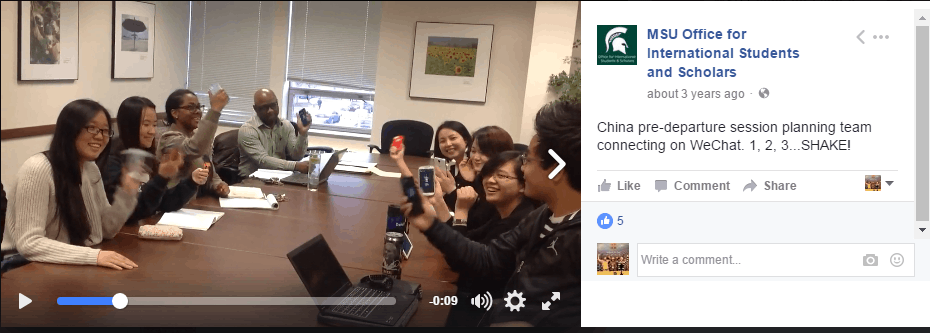 Michigan State University WeChat Social Media