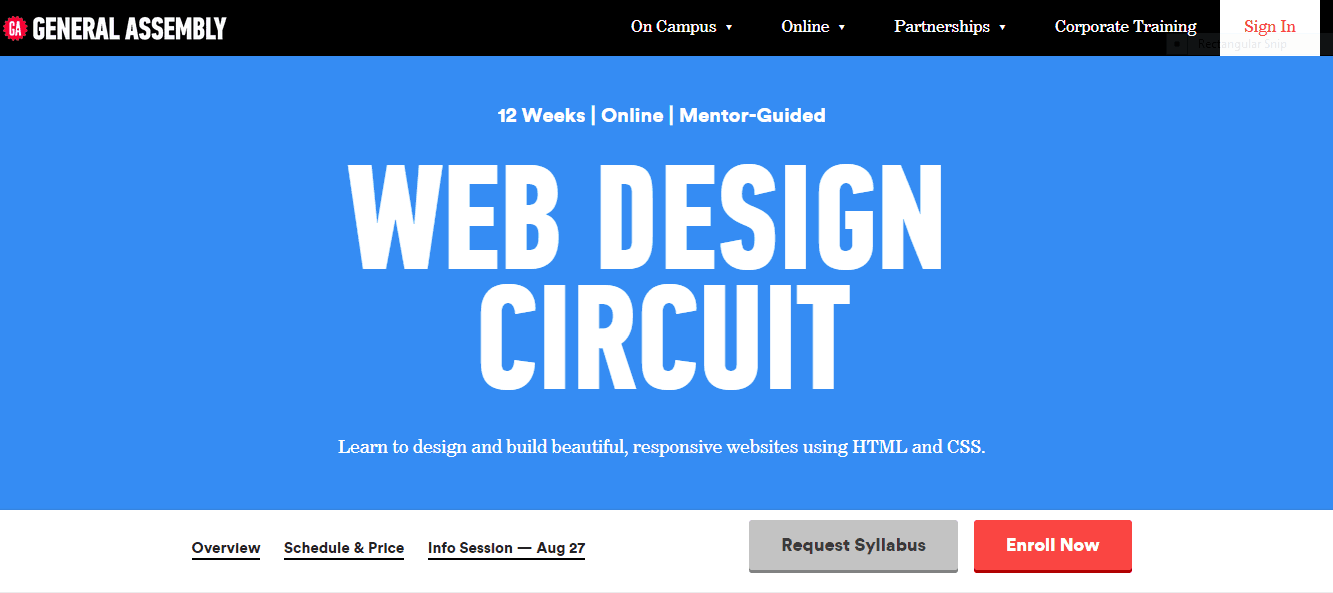 Web Design college subjects mecc