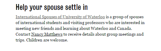 University of Waterloo international student group