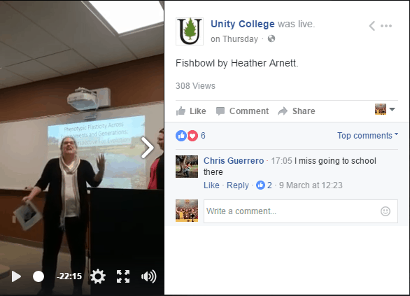 unity college social media marketing