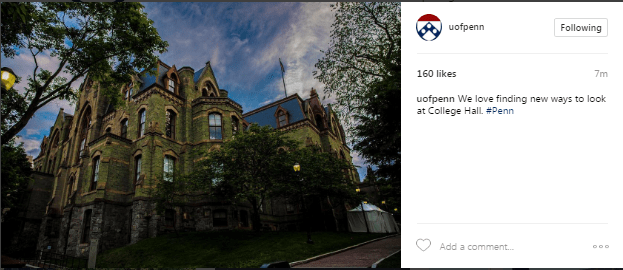 University of Pennsylvania Instagram