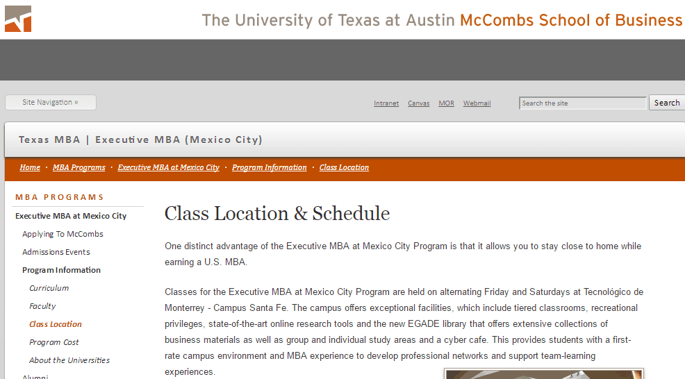 University of Texas MBA recruitment