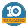 10 years of expert digital marketing leadership logo