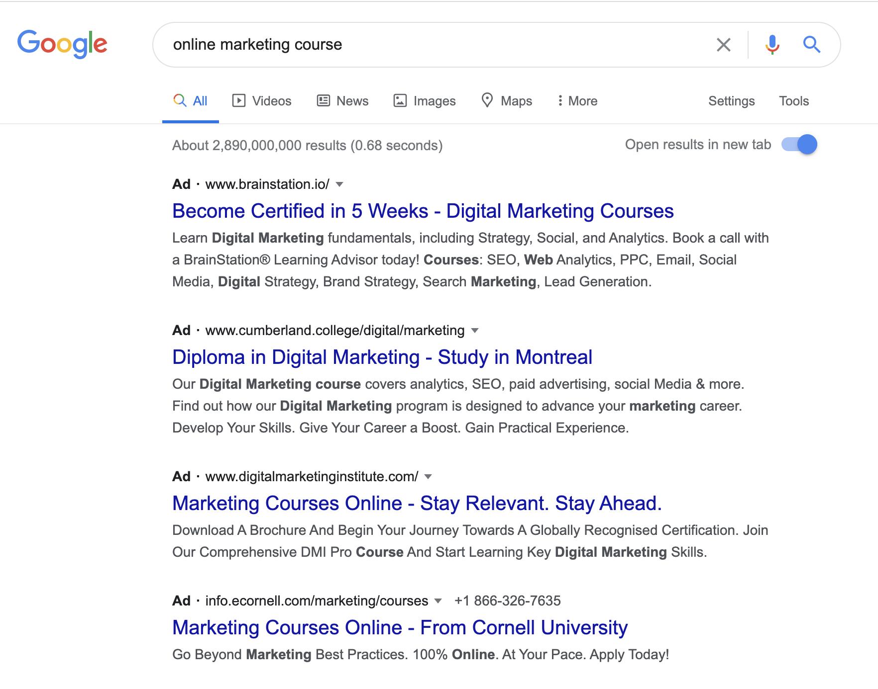 digital marketing higher ed