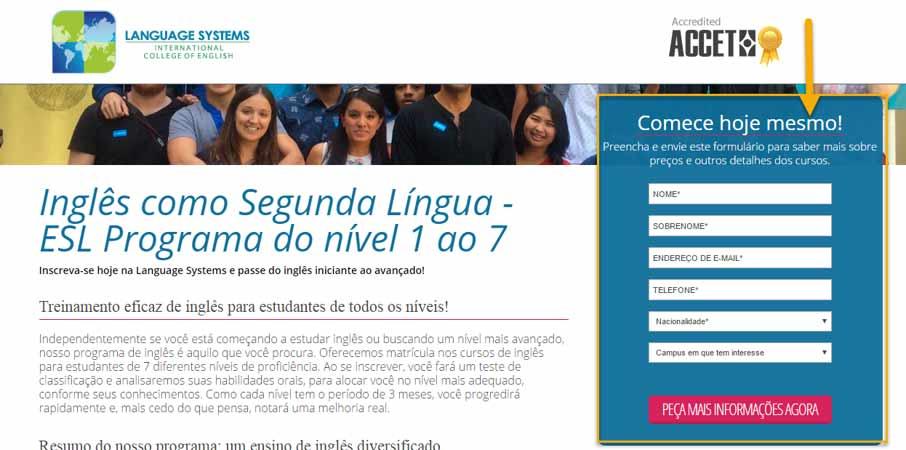 language school advertising