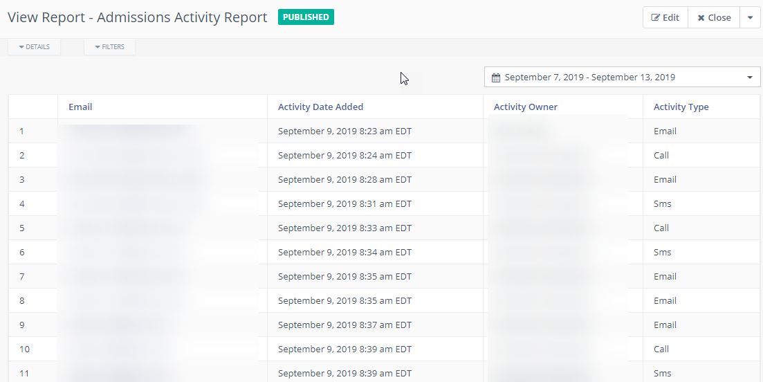 crm and marketing automation reporting for schools