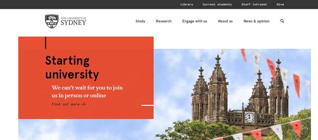 Education website UX design