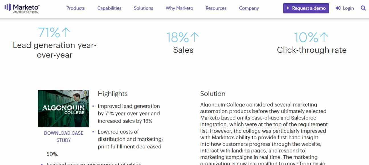 marketo automation for education