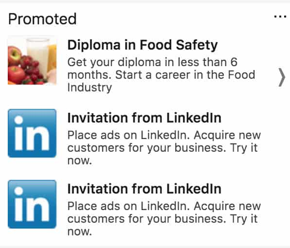 advertising on LinkedIn for schools