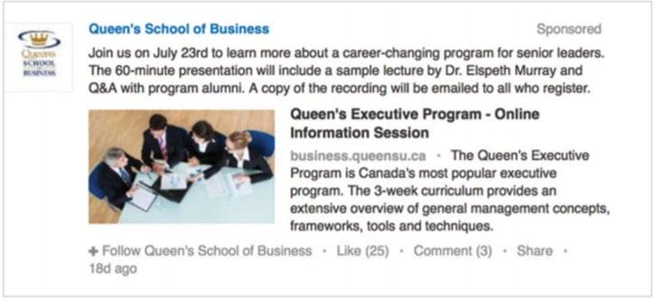 business school advertising