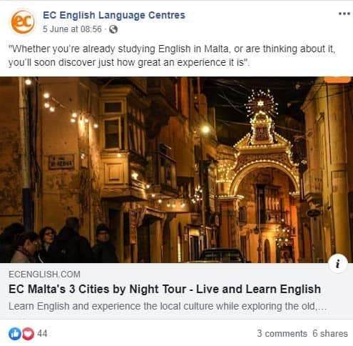 language school social media