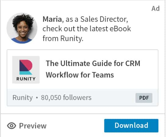 LinkedIn dynamic ads for schools