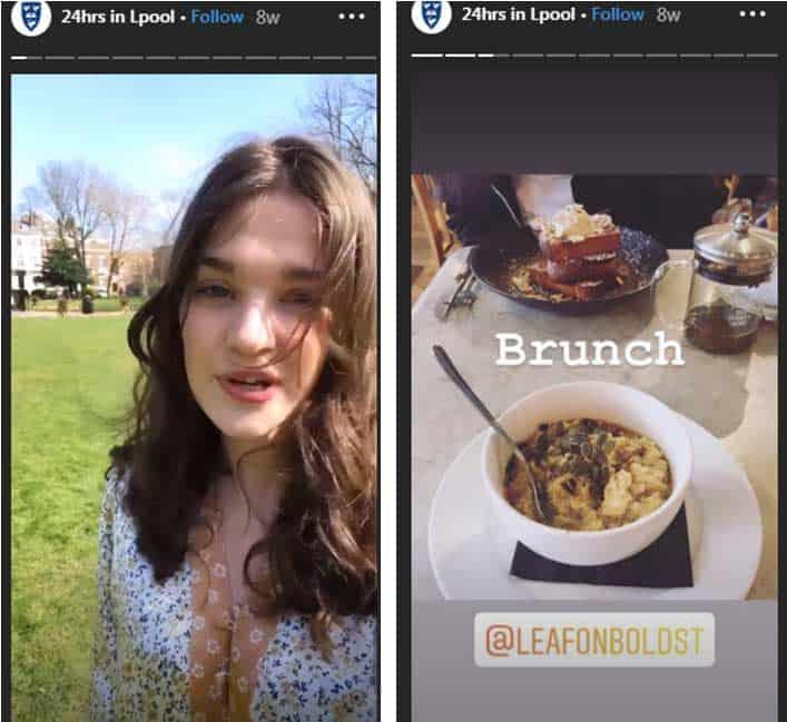 social media stories for universities