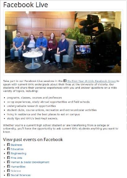 event digital marketing for higher education
