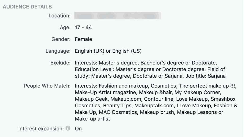 Facebook advertising for schools