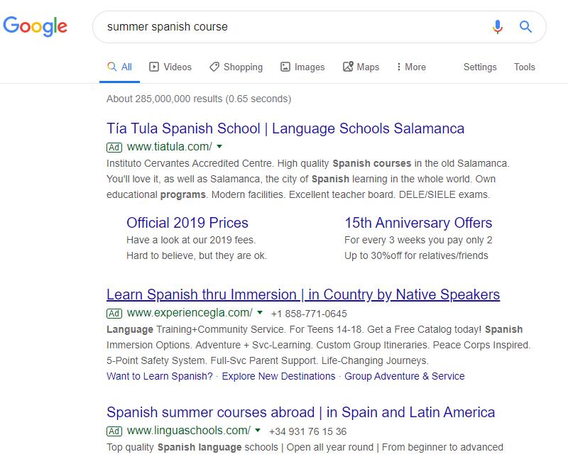Google Ads for higher education