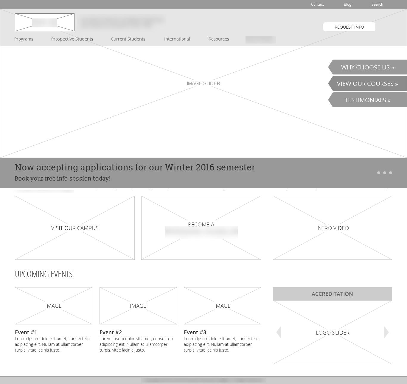 education website design for schools