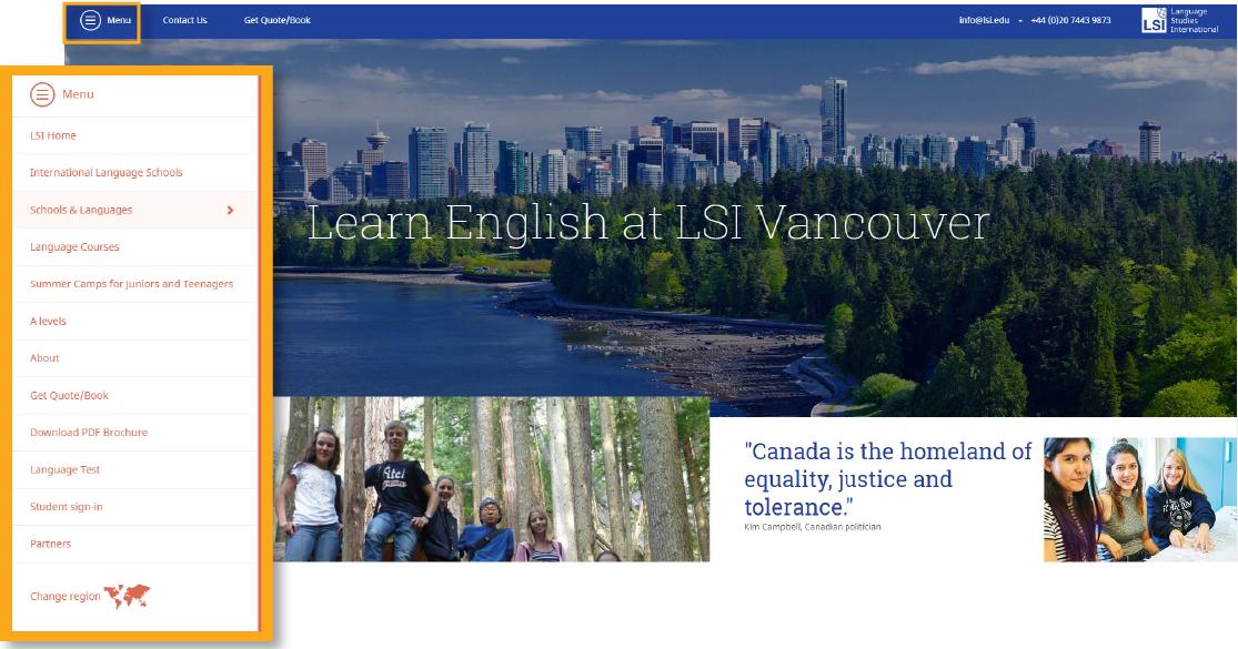 language school website design