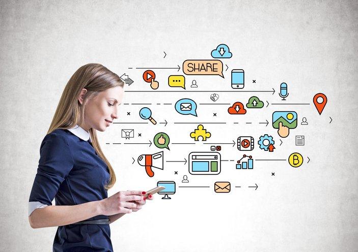 social media through the enrollment journey