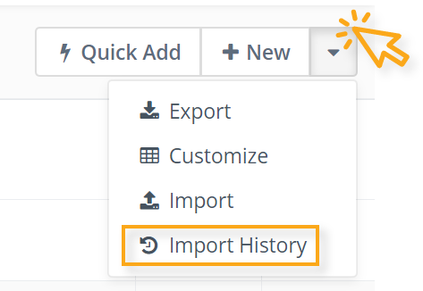 Import contact history