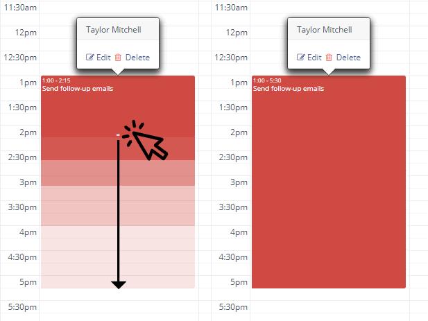 edit event duration