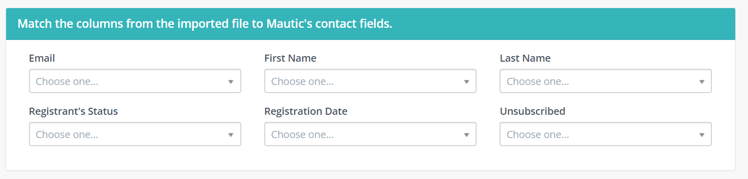 match contact file columns for import