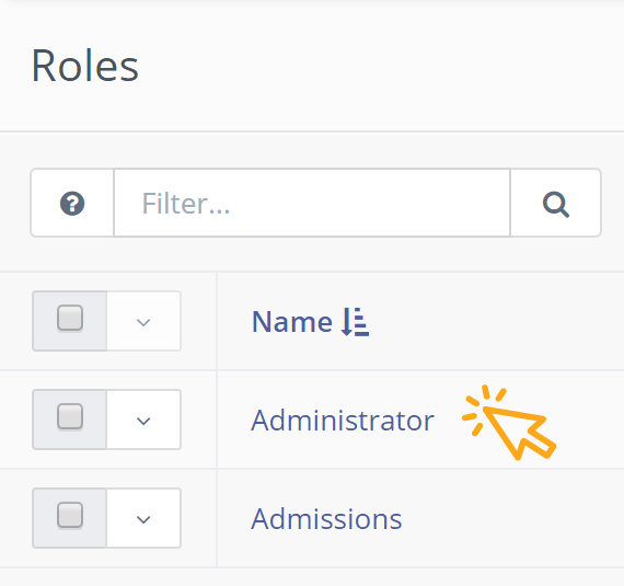 roles icons